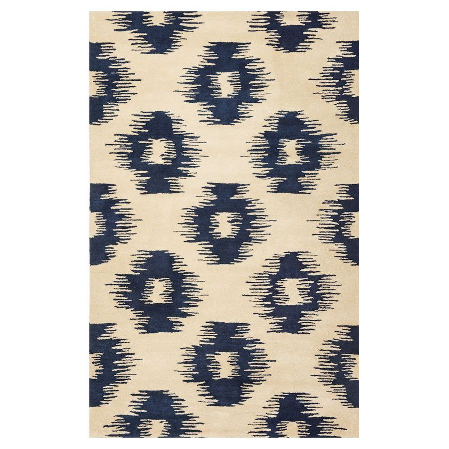 KAS Rugs Ikat Style Rectangular Indoor Tufted Area Rug