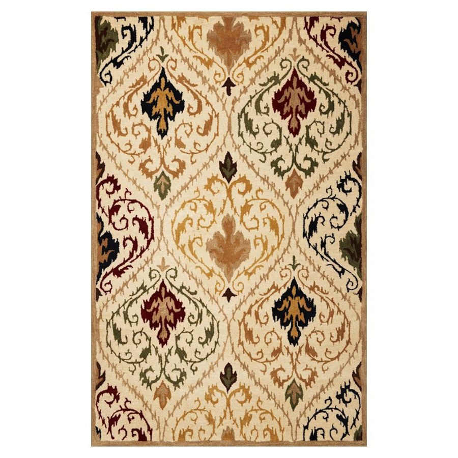 KAS Rugs Ikat Style Rectangular Indoor Tufted Throw Rug