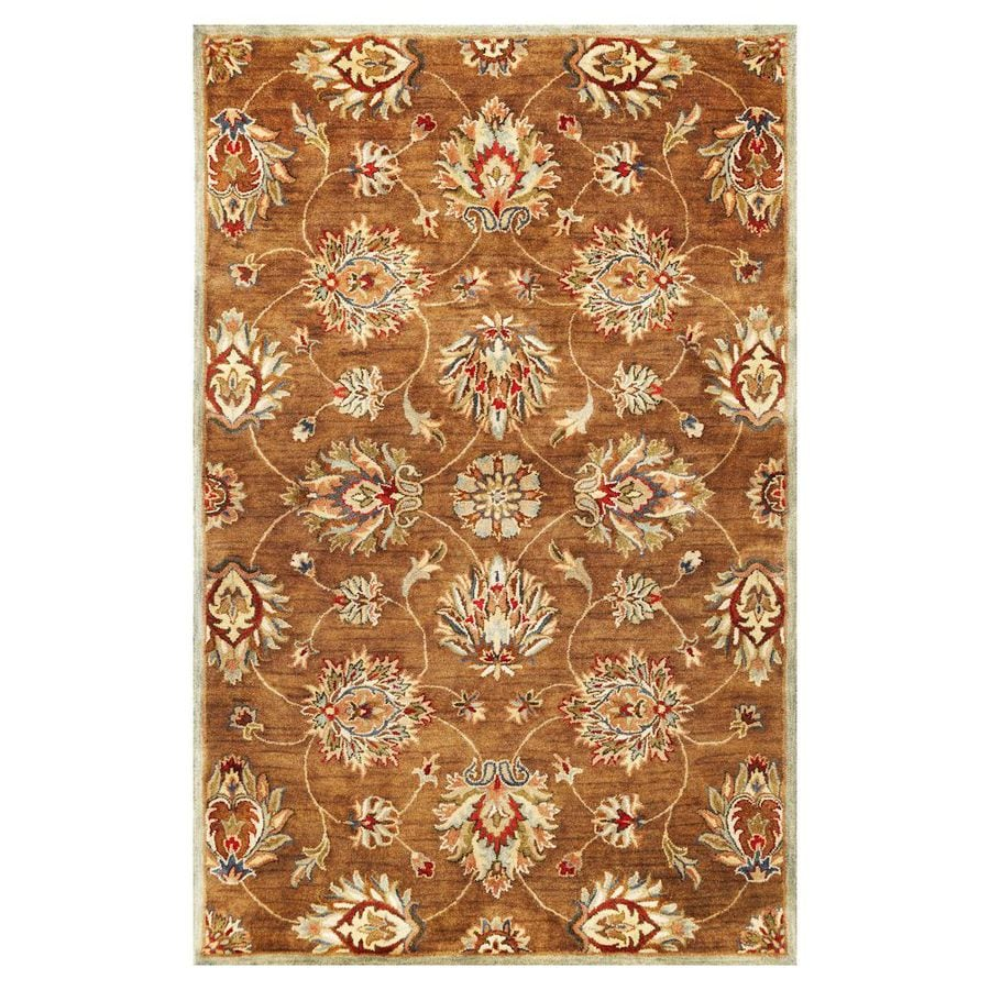 KAS Rugs Tapestry Today Brown Rectangular Indoor Tufted Oriental Throw Rug (Common: 3 x 5; Actual: 39-ft W x 63-ft L)