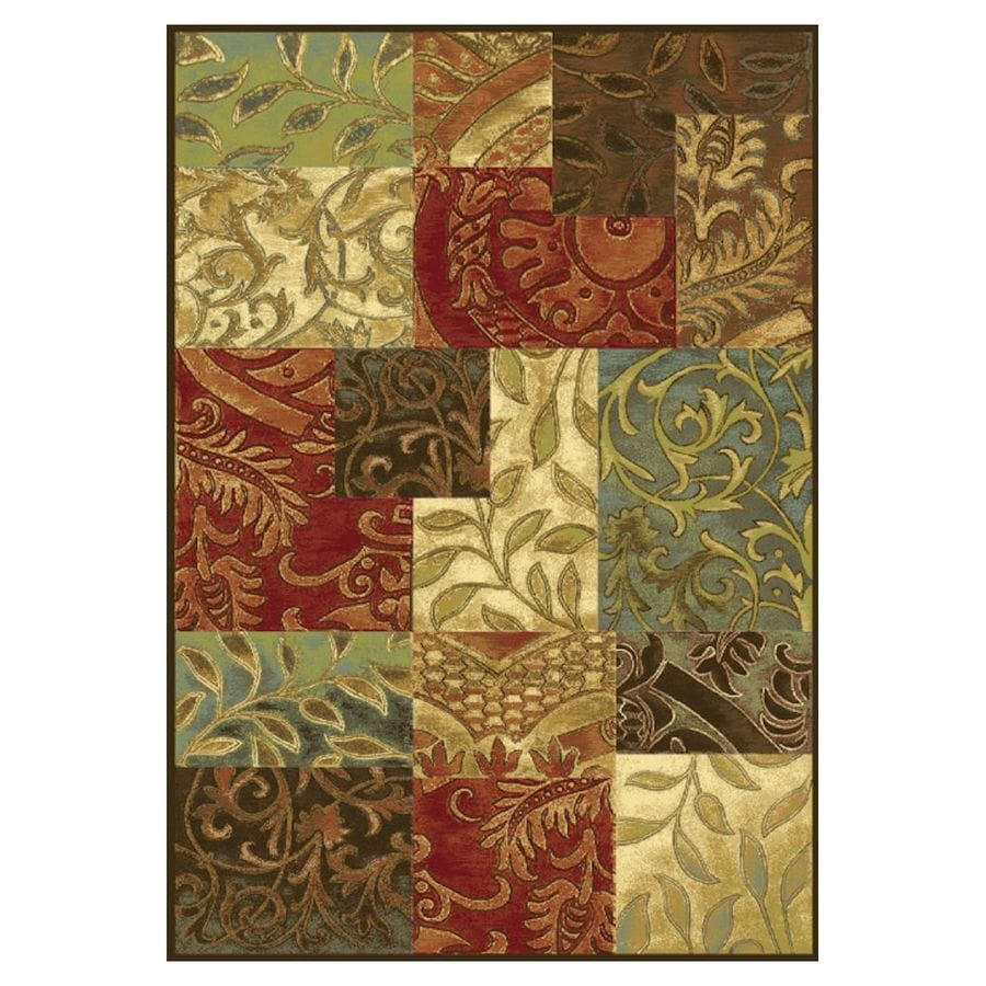 KAS Rugs To-Day Treasures Brown Rectangular Indoor Woven Area Rug (Common: 5 x 8; Actual: 5.25-ft W x 7.58-ft L)