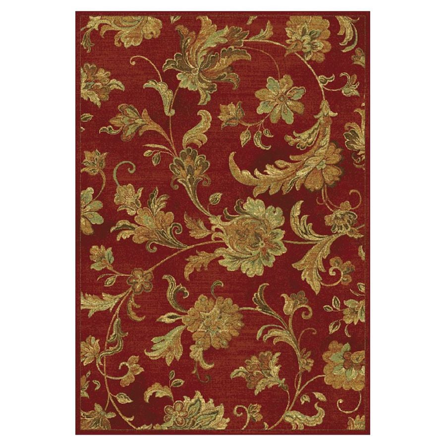 KAS Rugs Todays Treasures Red Rectangular Indoor Woven Area Rug (Common: 5 x 8; Actual: 63-ft W x 91-ft L)