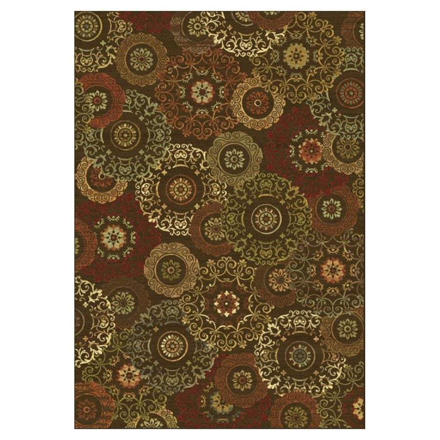 KAS Rugs Todays Treasures Brown Rectangular Indoor Woven Throw Rug (Common: 2 x 3; Actual: 26-in W x 43-in L x 0-ft Dia)