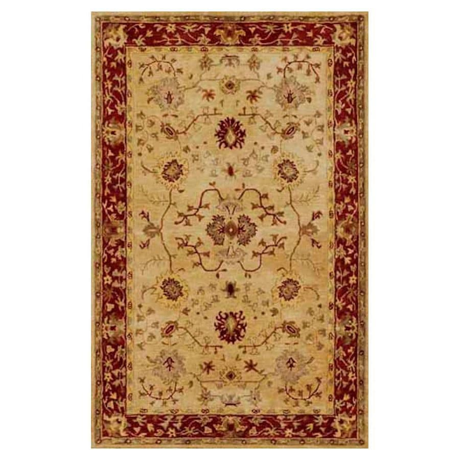 KAS Rugs Elite Traditions Brown Rectangular Indoor Handcrafted Throw Rug (Common: 3 x 5; Actual: 3.25-ft W x 5.25-ft L)