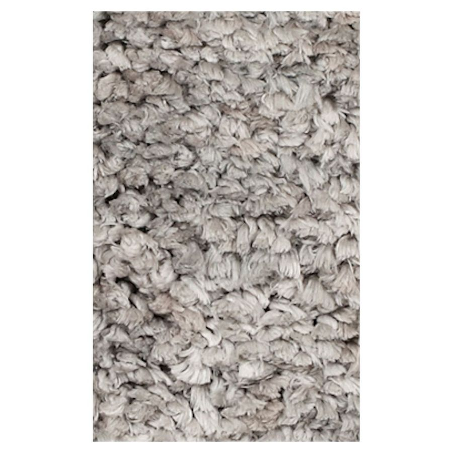 KAS Rugs Perfect Shag Gray Rectangular Indoor Shag Area Rug (Common: 5 x 7; Actual: 60-ft W x 84-ft L)