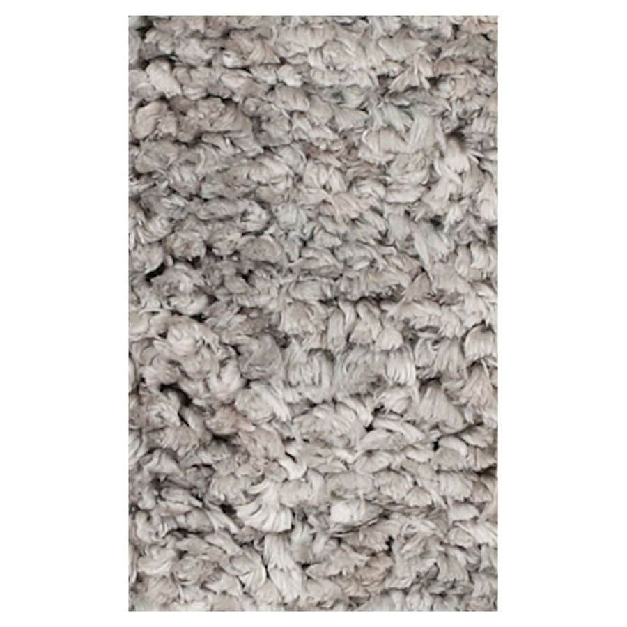 KAS Rugs Perfect Shag Gray Rectangular Indoor Shag Area Rug (Common: 8 x 10; Actual: 90-in W x 114-in L x 0-ft Dia)