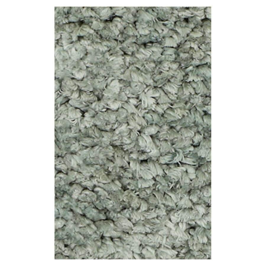 KAS Rugs Perfect Shag Green Rectangular Indoor Machine-Made Area Rug (Common: 8 x 10; Actual: 7.50-ft W x 9.50-ft L)
