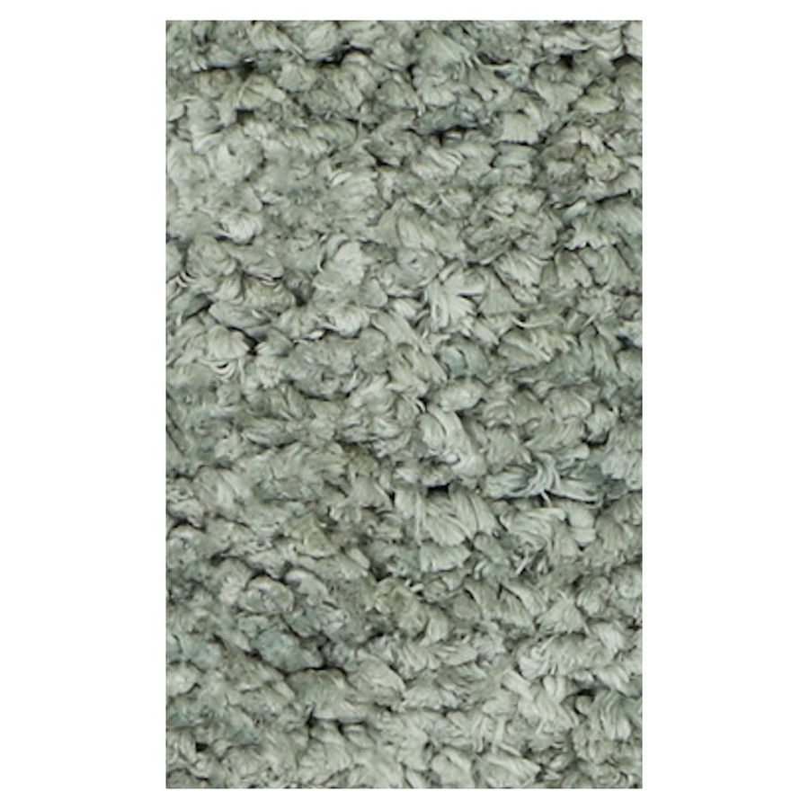 KAS Rugs Perfect Shag Green Rectangular Indoor Shag Area Rug (Common: 8 x 10; Actual: 90-ft W x 114-ft L)