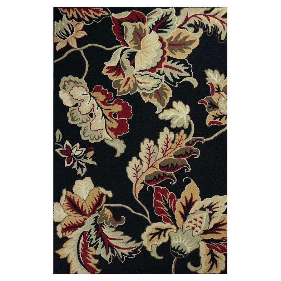 KAS Rugs Classy Casual Rectangular Indoor Hand-Hooked Area Rug (Common: 5 x 8; Actual: 63-in W x 99-in L)
