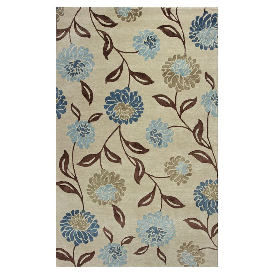 KAS Rugs Florentine Rectangular Indoor Tufted Area Rug (Common: 5 x 8; Actual: 60-in W x 96-in L)