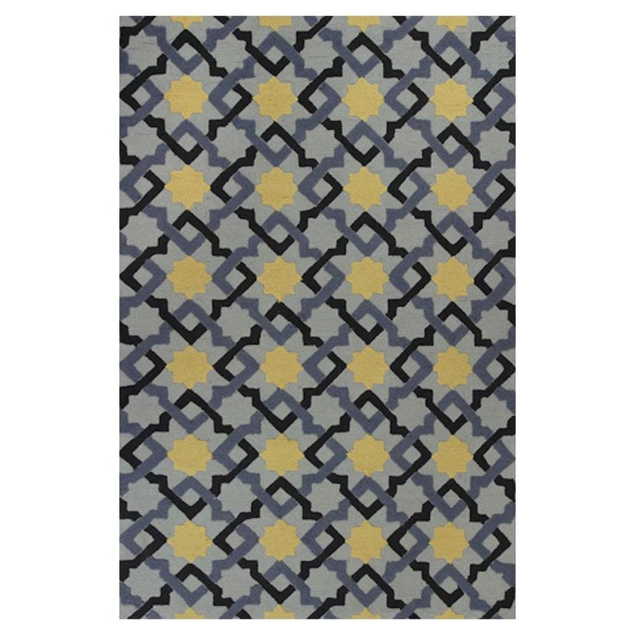 KAS Rugs Casual Living Blue Rectangular Indoor/Outdoor Hand-Hooked Moroccan Throw Rug (Common: 3 x 5; Actual: 39-in W x 63-in L x 0-ft Dia)