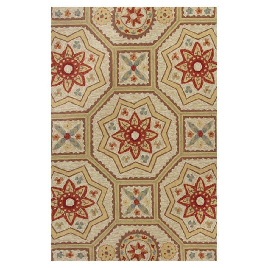 KAS Rugs Casual Living Brown Rectangular Indoor/Outdoor Hand-Hooked Moroccan Throw Rug (Common: 3 x 5; Actual: 39-in W x 63-in L x 0-ft Dia)