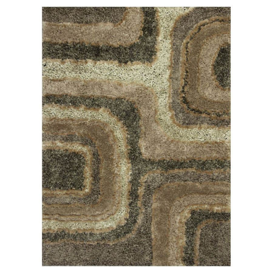KAS Rugs Drama Shag Rectangular Indoor Tufted Throw Rug (Common: 3 x 5; Actual: 39-in W x 63-in L)