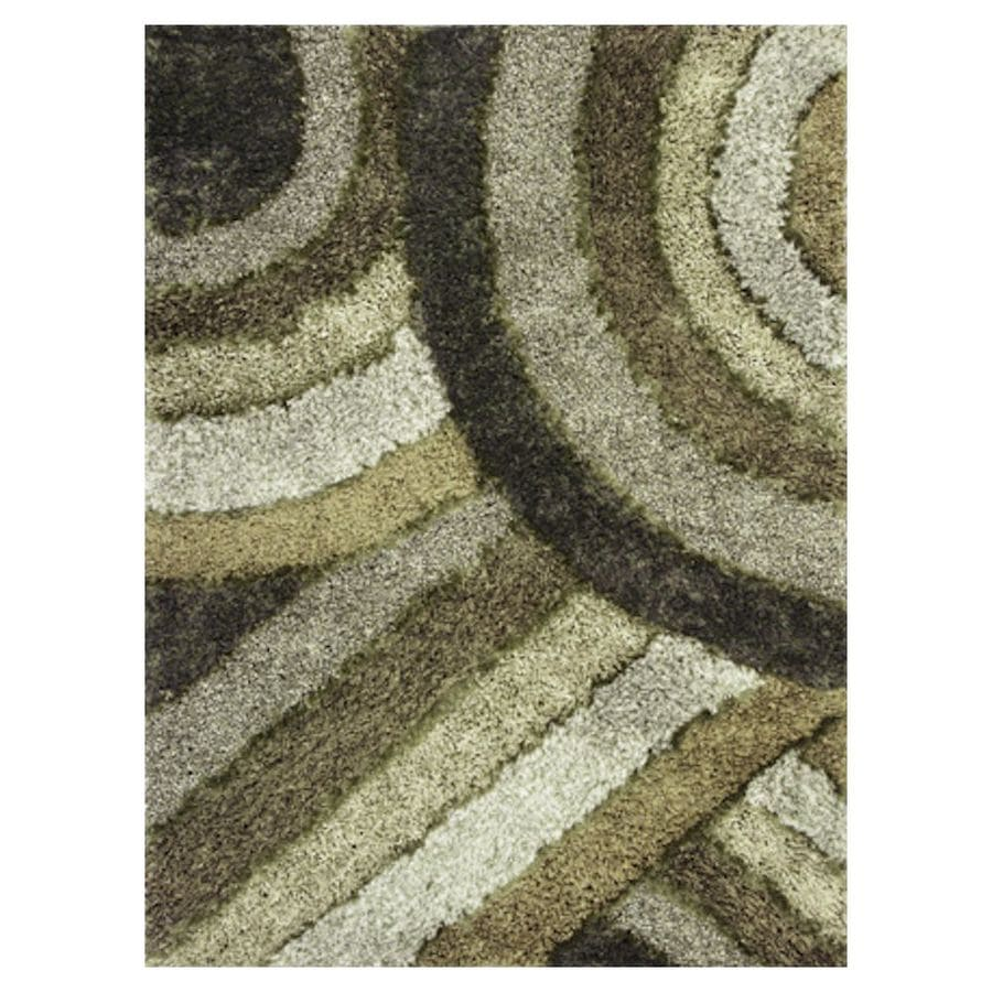 KAS Rugs Drama Shag Rectangular Indoor Tufted Area Rug (Common: 8 x 10; Actual: 90-in W x 114-in L)