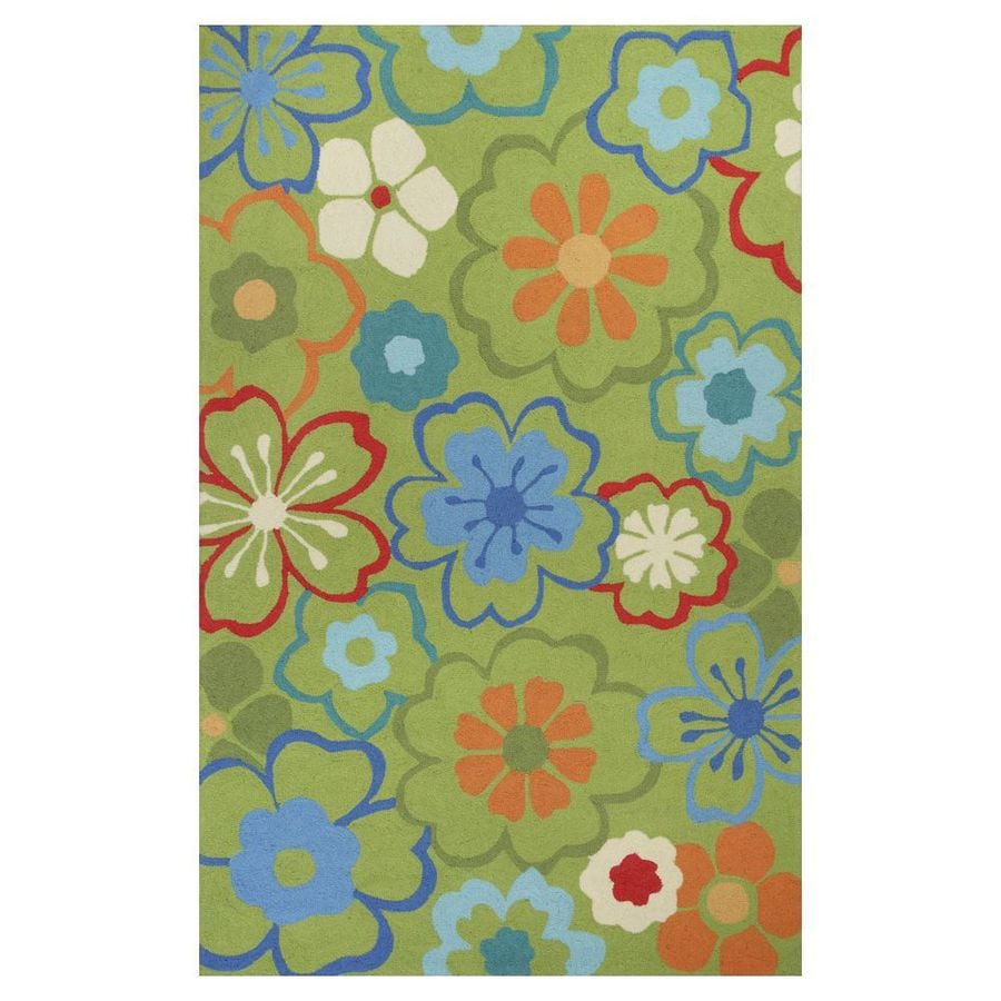 KAS Rugs Flirty Trends Rectangular Indoor Hand-Hooked Throw Rug (Common: 2 x 4; Actual: 27-in W x 45-in L)
