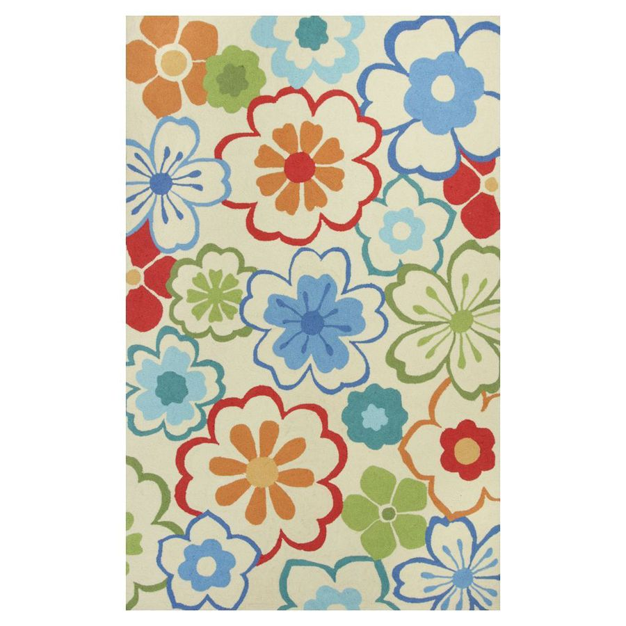 KAS Rugs Flirty Trends Rectangular Indoor Hand-Hooked Throw Rug