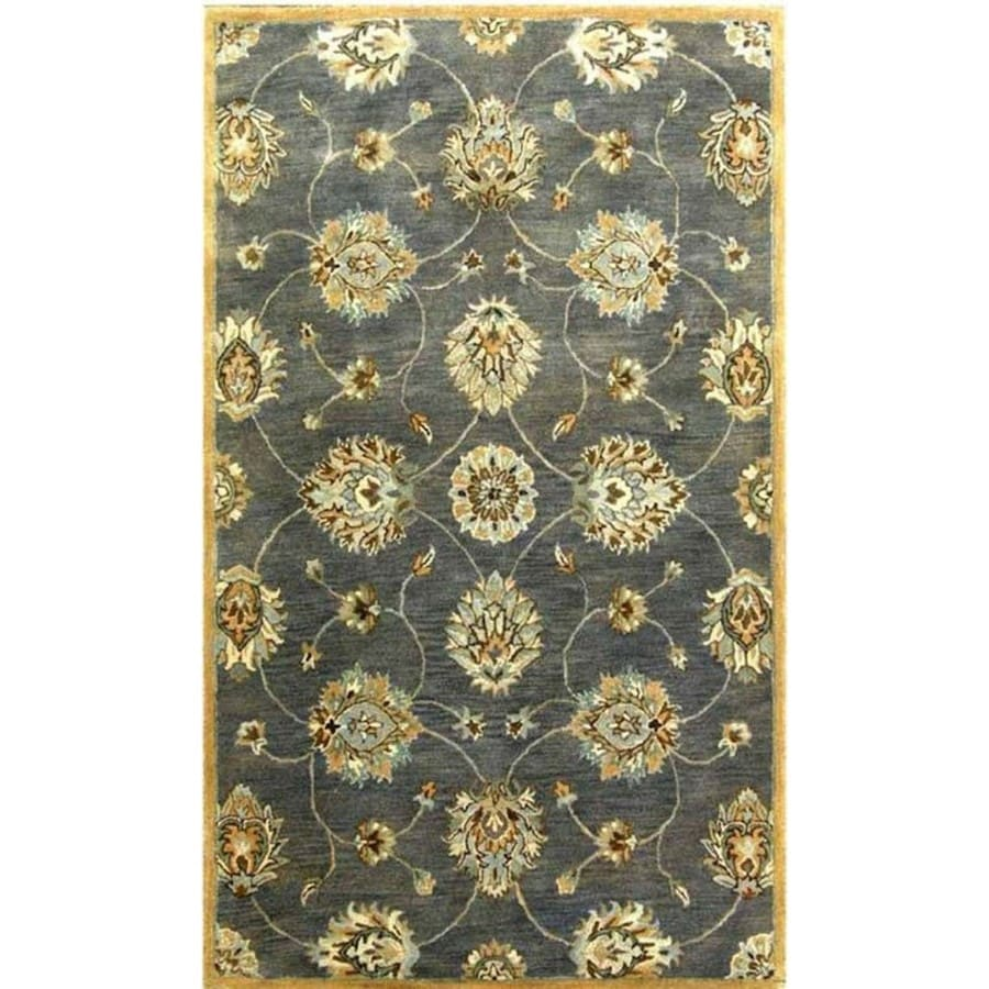 KAS Rugs Tapestry Today Blue Rectangular Indoor Tufted Oriental Throw Rug (Common: 3 x 5; Actual: 39-in W x 63-in L x 0-ft Dia)
