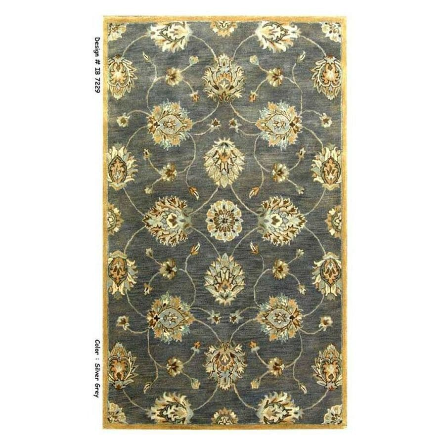 KAS Rugs Tapestry Today Gray Rectangular Indoor Tufted Oriental Area Rug (Common: 5 x 8; Actual: 60-ft W x 96-ft L)