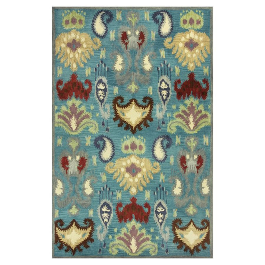 KAS Rugs Ikat Style Rectangular Indoor Tufted Area Rug
