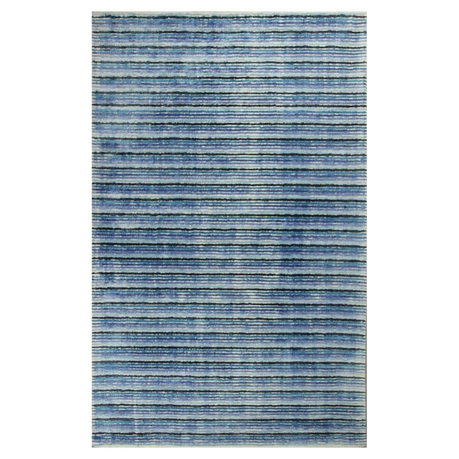 KAS Rugs Shimmering Treasures Blue Rectangular Indoor Tufted Throw Rug (Common: 2 x 4; Actual: 30-in W x 50-in L x 0-ft Dia)