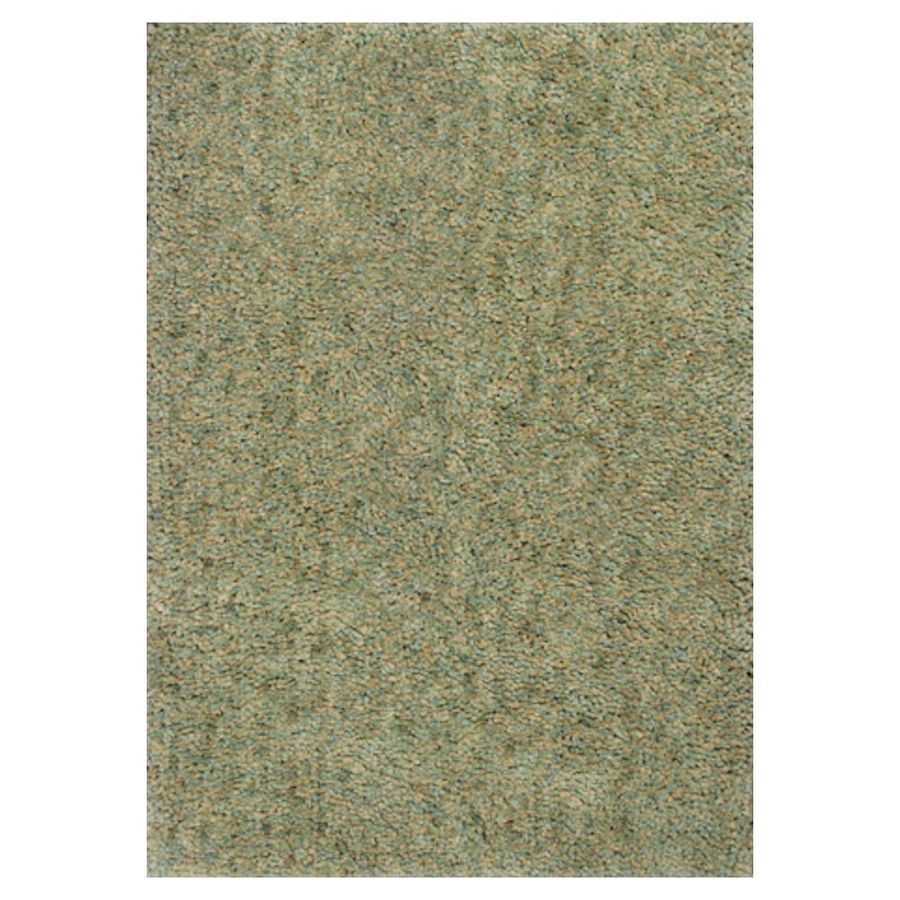 KAS Rugs Perfect Shag Green Rectangular Indoor Shag Throw Rug (Common: 2 x 4; Actual: 27-ft W x 45-ft L)