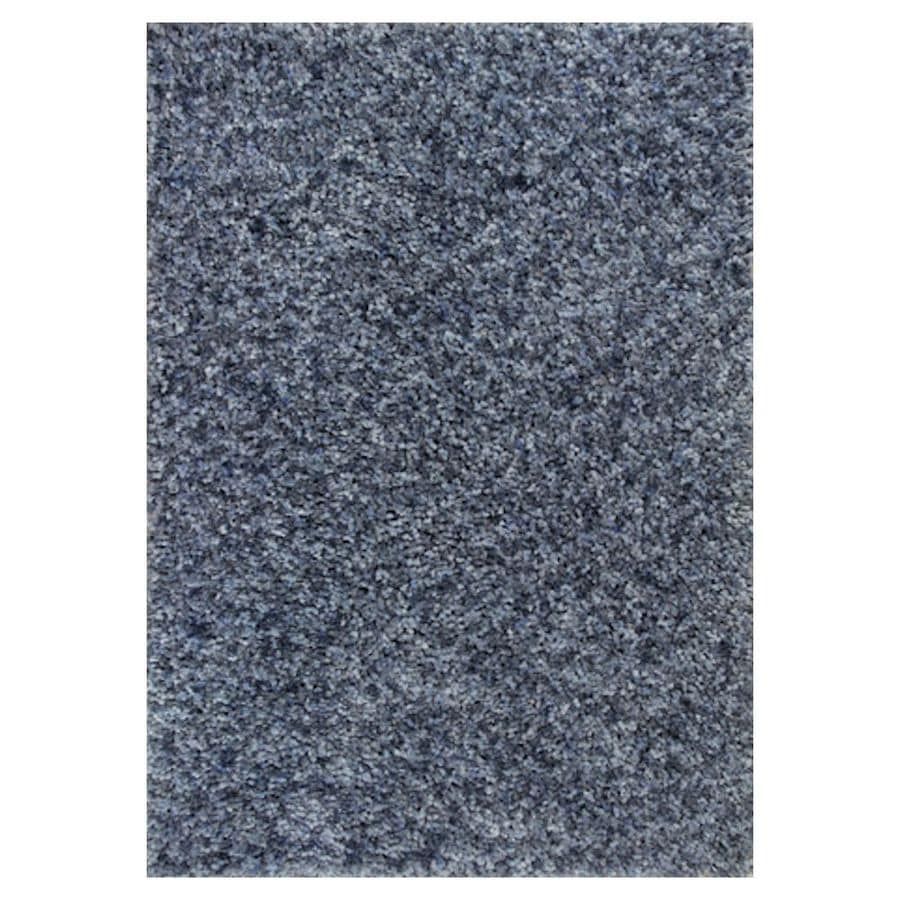 KAS Rugs Perfect Shag Blue Rectangular Indoor Machine-Made Throw Rug (Common: 3 X 5; Actual: 3.25-ft W x 5.25-ft L)