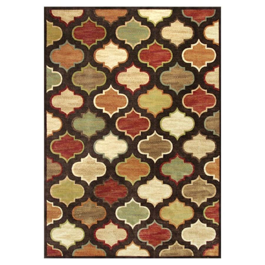 KAS Rugs Todays Treasures Brown Rectangular Indoor Woven Throw Rug (Common: 3 x 5; Actual: 39-in W x 55-in L x 0-ft Dia)