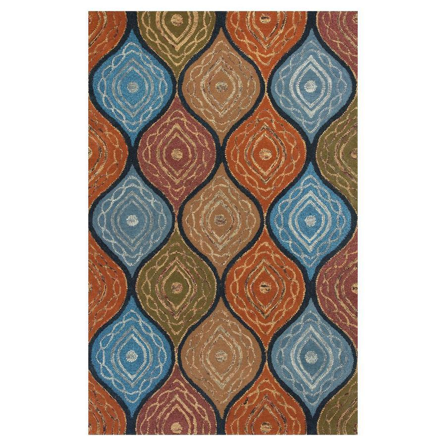 KAS Rugs Geometric Texture Rectangular Indoor Tufted Throw Rug (Common: 3 x 5; Actual: 39-in W x 63-in L)