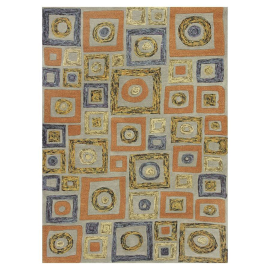 KAS Rugs Geometric Texture Rectangular Indoor Tufted Area Rug (Common: 8 x 11; Actual: 96-in W x 126-in L)