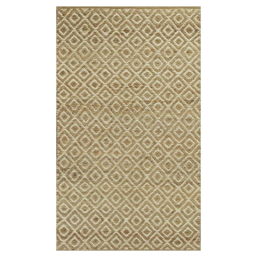 KAS Rugs Rustic Jute Brown Rectangular Indoor Woven Nature Throw Rug (Common: 2 x 4; Actual: 27-ft W x 45-ft L)