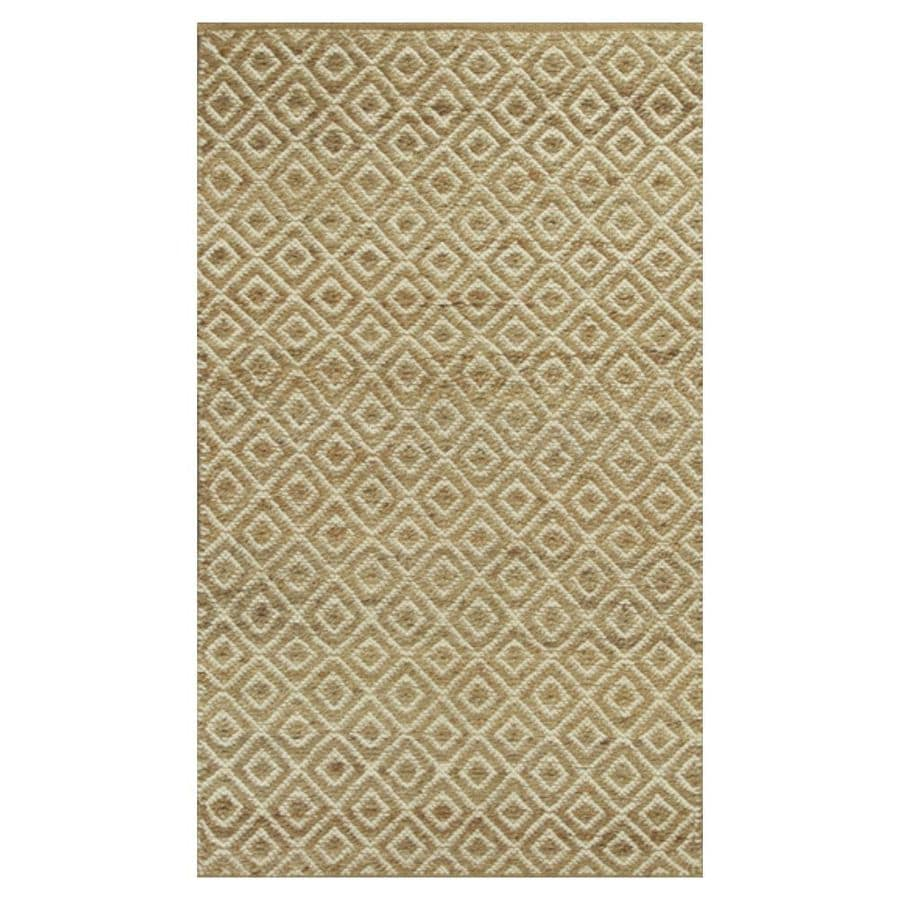KAS Rugs Rustic Jute Gray Rectangular Indoor Woven Nature Throw Rug (Common: 3 x 5; Actual: 39-ft W x 63-ft L)