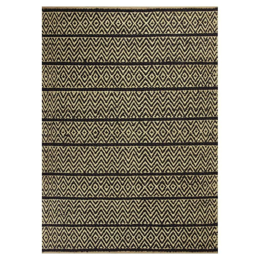 KAS Rugs Rustic Jute Gray Rectangular Indoor Woven Nature Throw Rug (Common: 2 x 4; Actual: 27-ft W x 45-ft L)