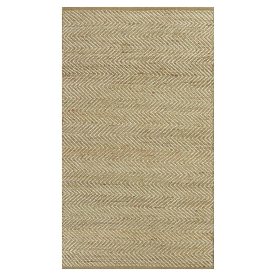KAS Rugs Rustic Jute Brown Rectangular Indoor Woven Nature Throw Rug (Common: 3 x 5; Actual: 39-ft W x 63-ft L)