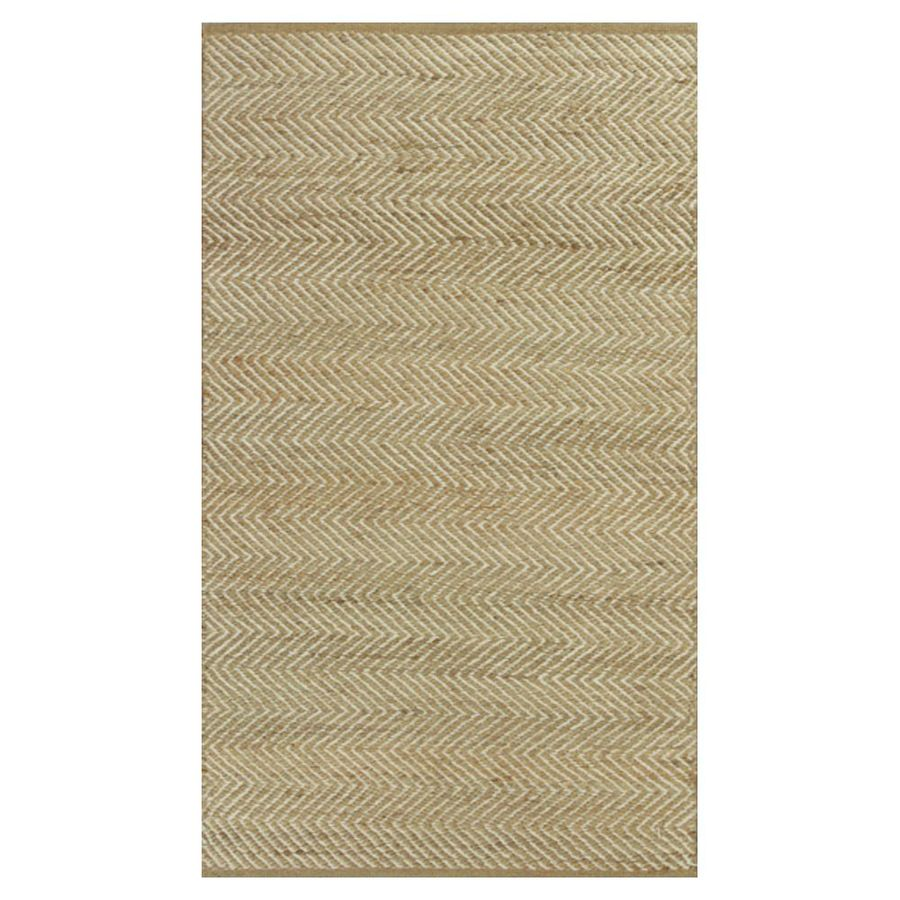 KAS Rugs Rustic Jute Ivory Rectangular Indoor Woven Nature Area Rug (Common: 5 x 8; Actual: 60-in W x 96-in L x 0-ft Dia)