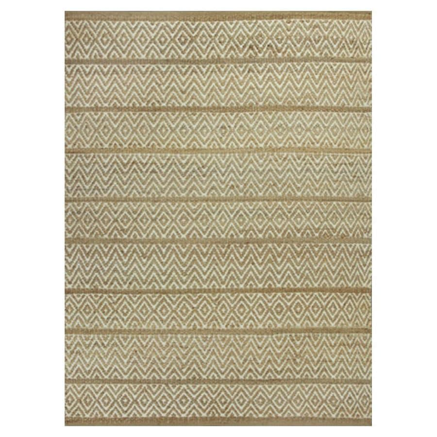 KAS Rugs Rustic Jute Ivory Rectangular Indoor Woven Nature Area Rug (Common: 8 x 10; Actual: 96-ft W x 120-ft L)