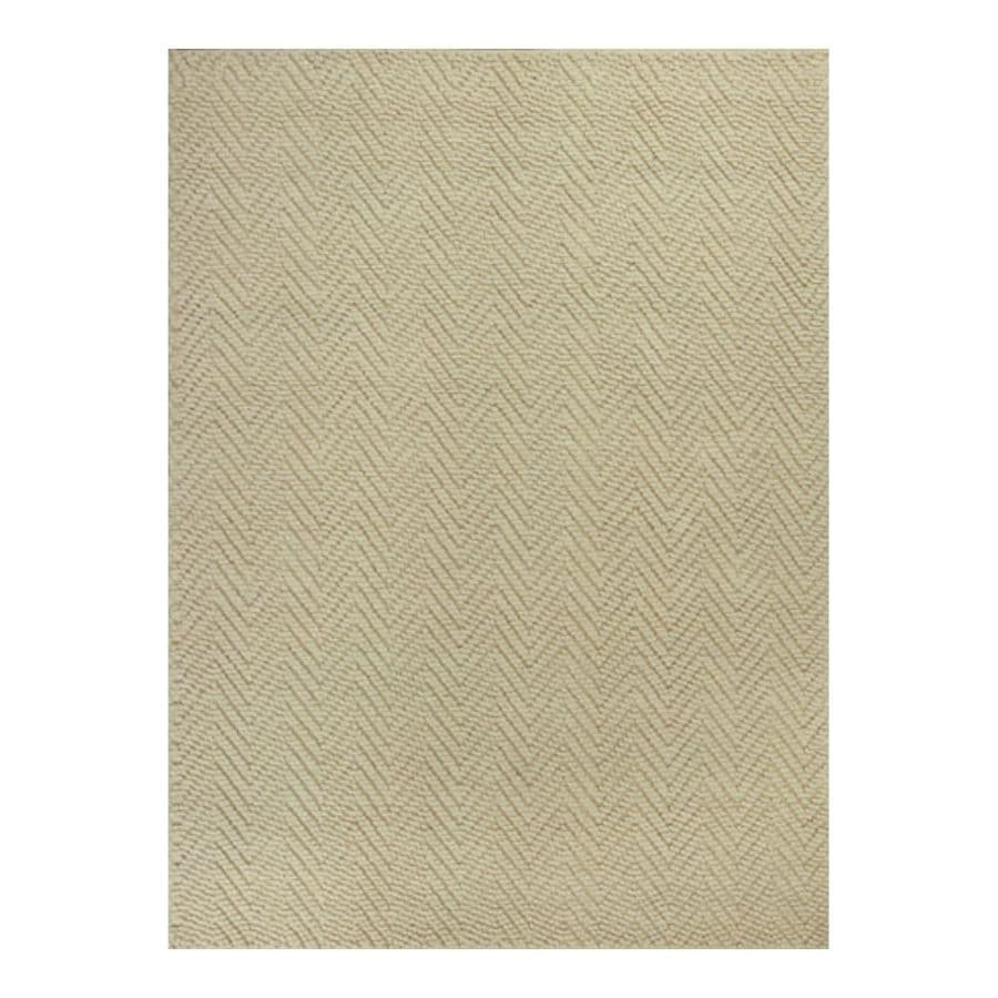 KAS Rugs Organics Brown Rectangular Indoor Woven Nature Area Rug (Common: 7 x 10; Actual: 6.50-ft W x 9.50-ft L)