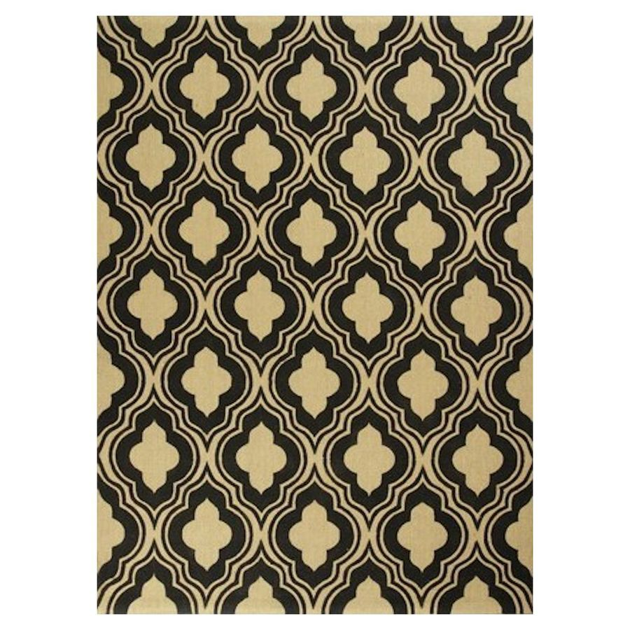 KAS Rugs Natures Best Black Rectangular Indoor Woven Nature Throw Rug (Common: 2 x 4; Actual: 27-in W x 45-in L x 0-ft Dia)