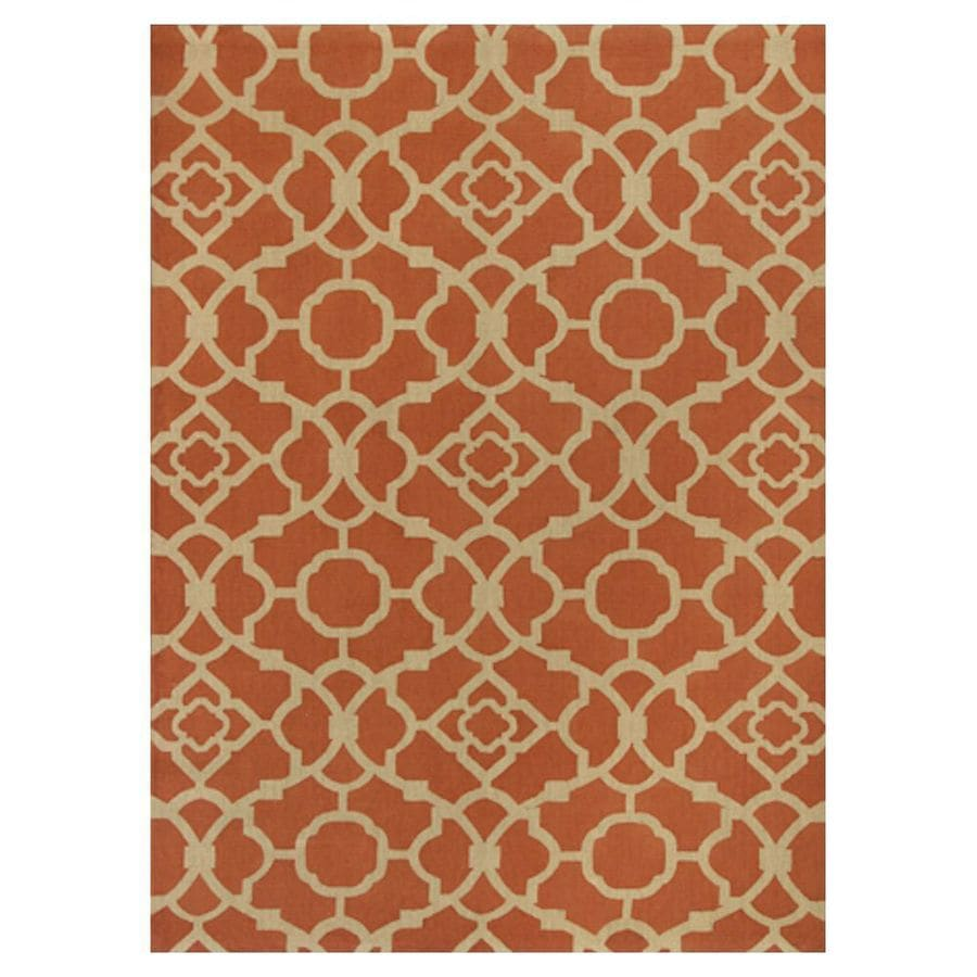 KAS Rugs Natures Best Orange Rectangular Indoor Woven Nature Area Rug (Common: 5 x 7; Actual: 60-in W x 84-in L x 0-ft Dia)