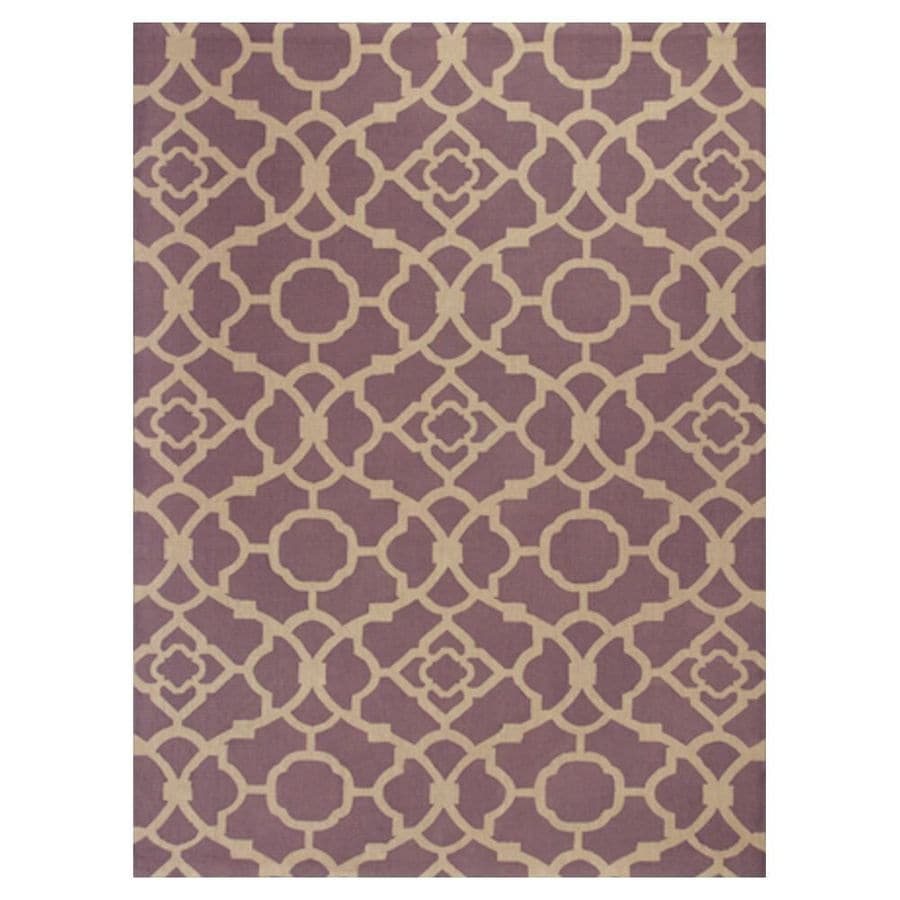 KAS Rugs Natures Best Purple Rectangular Indoor Woven Nature Area Rug (Common: 5 x 7; Actual: 60-in W x 84-in L x 0-ft Dia)