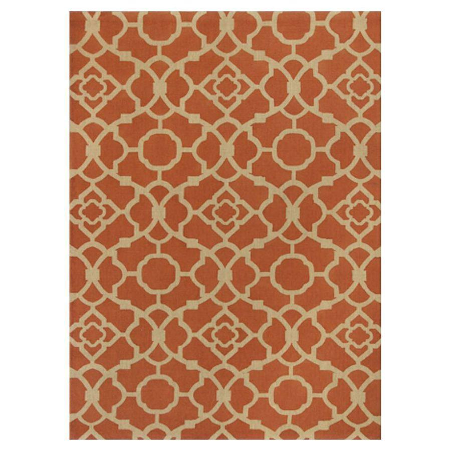 KAS Rugs Natures Best Orange Rectangular Indoor Woven Nature Area Rug (Common: 7 x 10; Actual: 78-in W x 114-in L x 0-ft Dia)