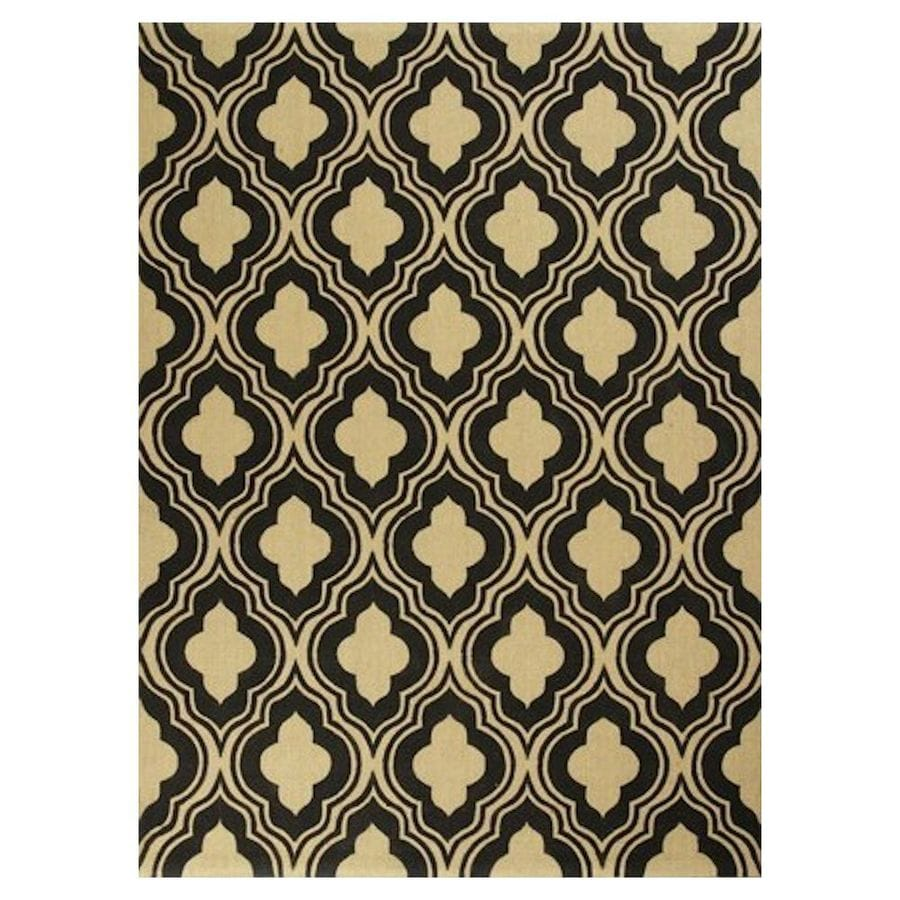 KAS Rugs Natures Best Black Rectangular Indoor Woven Nature Area Rug (Common: 7 x 10; Actual: 78-in W x 114-in L x 0-ft Dia)