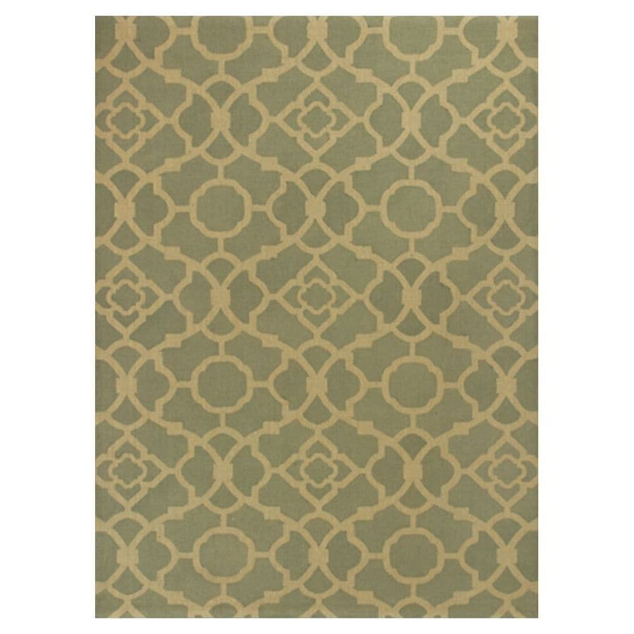 KAS Rugs Natures Best Gray Rectangular Indoor Woven Nature Area Rug (Common: 8 x 10; Actual: 96-in W x 120-in L x 0-ft Dia)