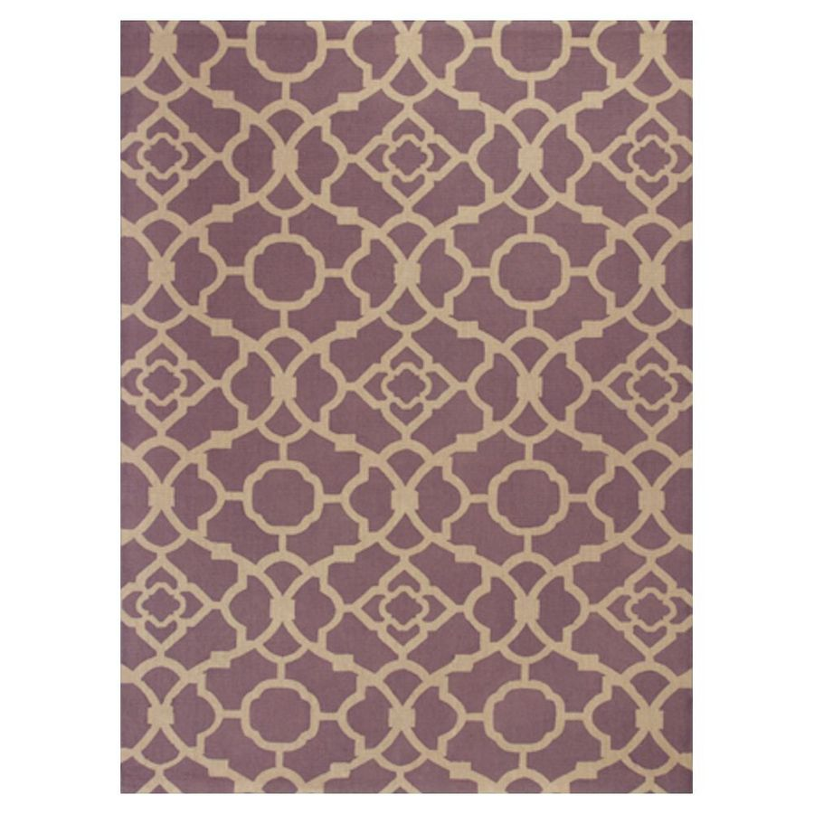 KAS Rugs Natures Best Purple Rectangular Indoor Woven Nature Area Rug (Common: 8 x 10; Actual: 96-in W x 120-in L x 0-ft Dia)