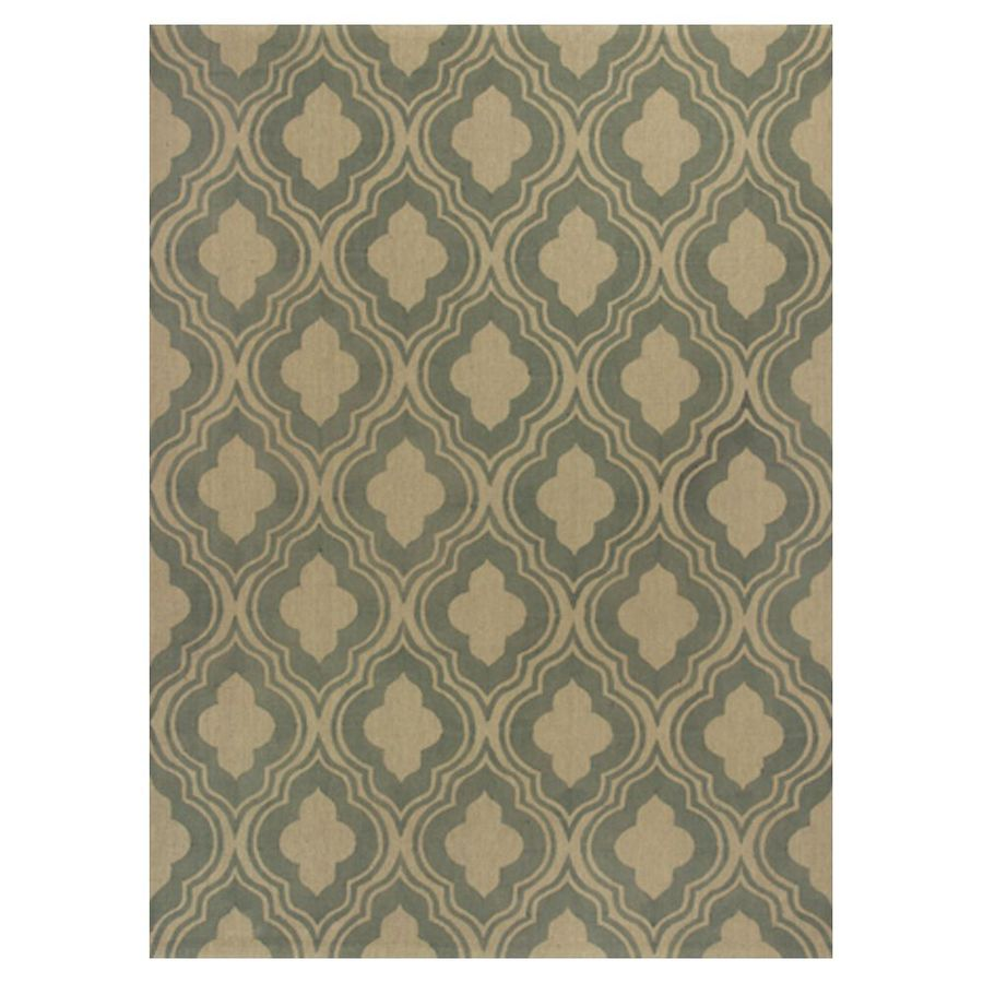 KAS Rugs Natures Best Green Rectangular Indoor Woven Nature Area Rug (Common: 8 x 10; Actual: 96-in W x 120-in L x 0-ft Dia)