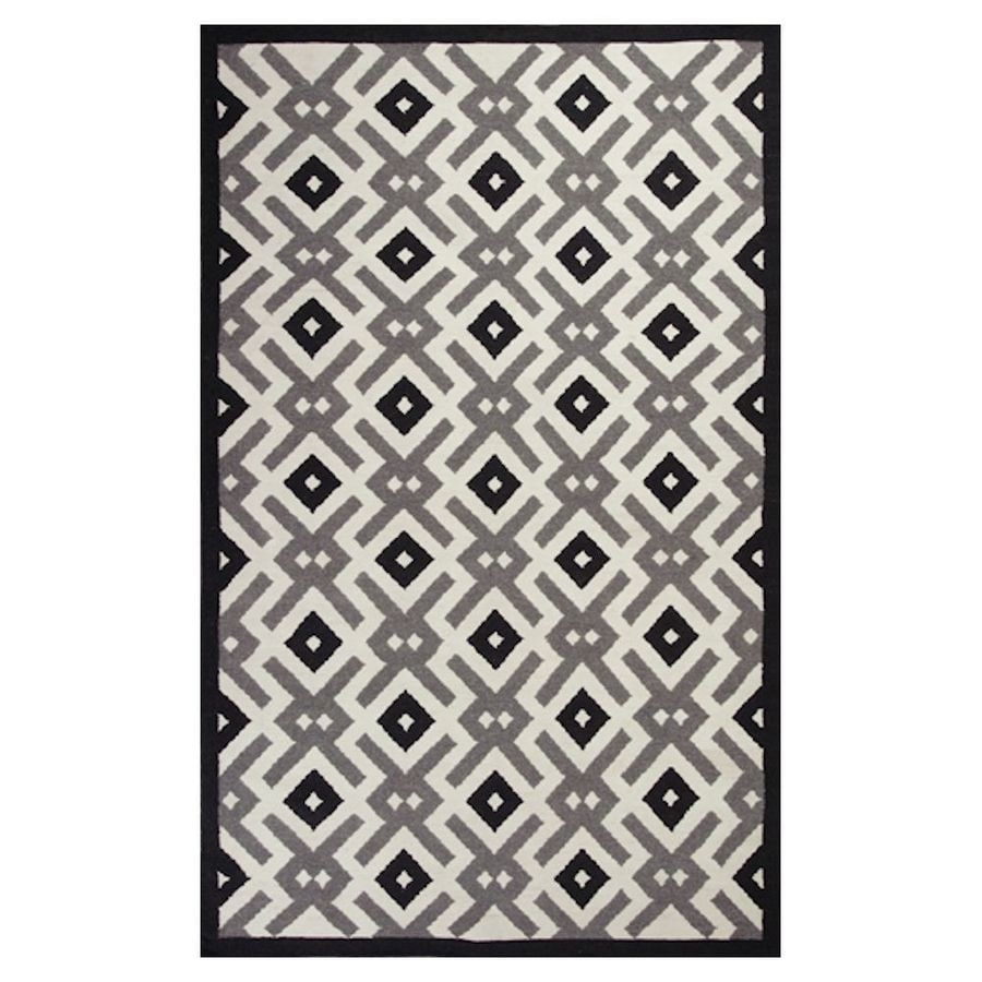 KAS Rugs Panja Weave Rectangular Indoor Woven Throw Rug (Common: 3 x 5; Actual: 39-in W x 63-in L)