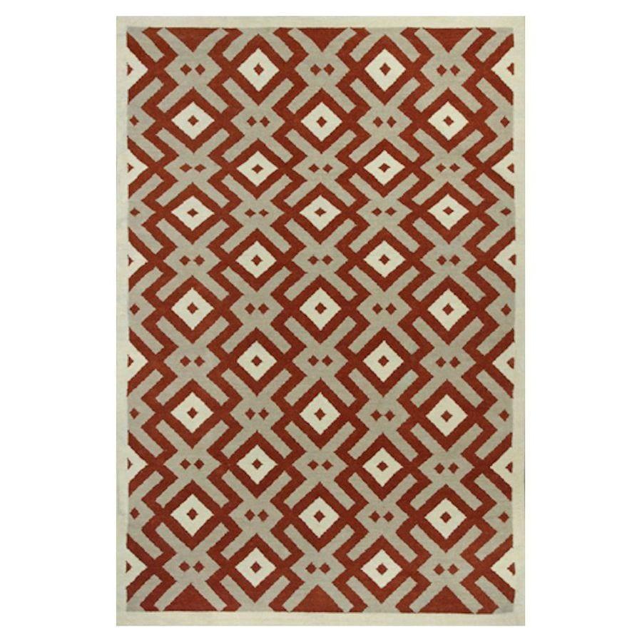 KAS Rugs Panja Weave Rectangular Indoor Woven Area Rug (Common: 8 x 10; Actual: 96-in W x 120-in L)