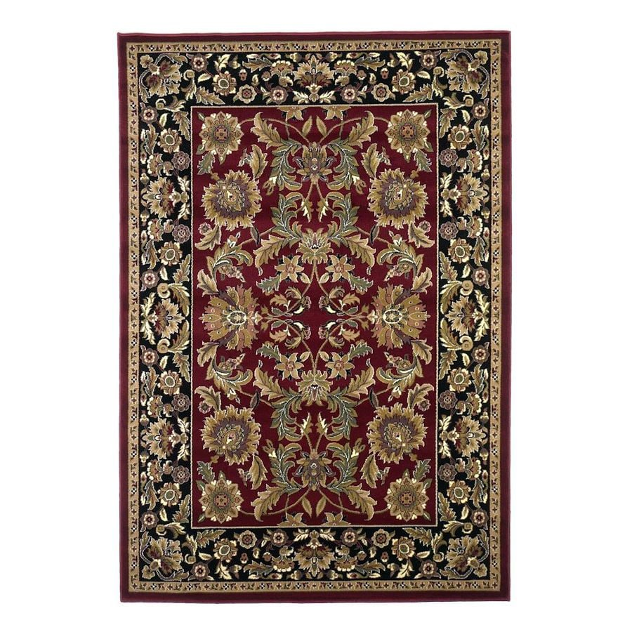 KAS Rugs Kashan Red Rectangular Indoor Woven Oriental Area Rug (Common: 10 x 13; Actual: 118-ft W x 146-ft L)