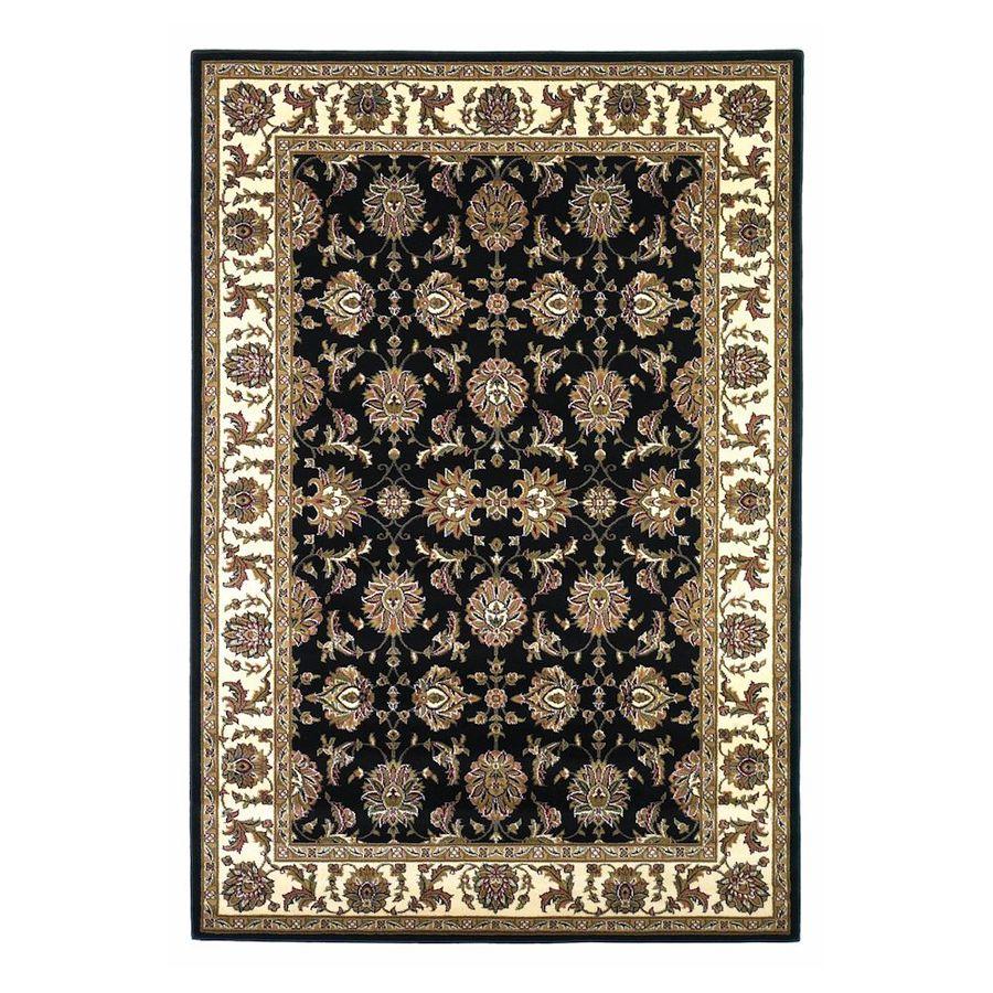 KAS Rugs Black Rectangular Indoor Woven Oriental Area Rug (Common: 10 x 13; Actual: 118-in W x 146-in L x 0-ft Dia)
