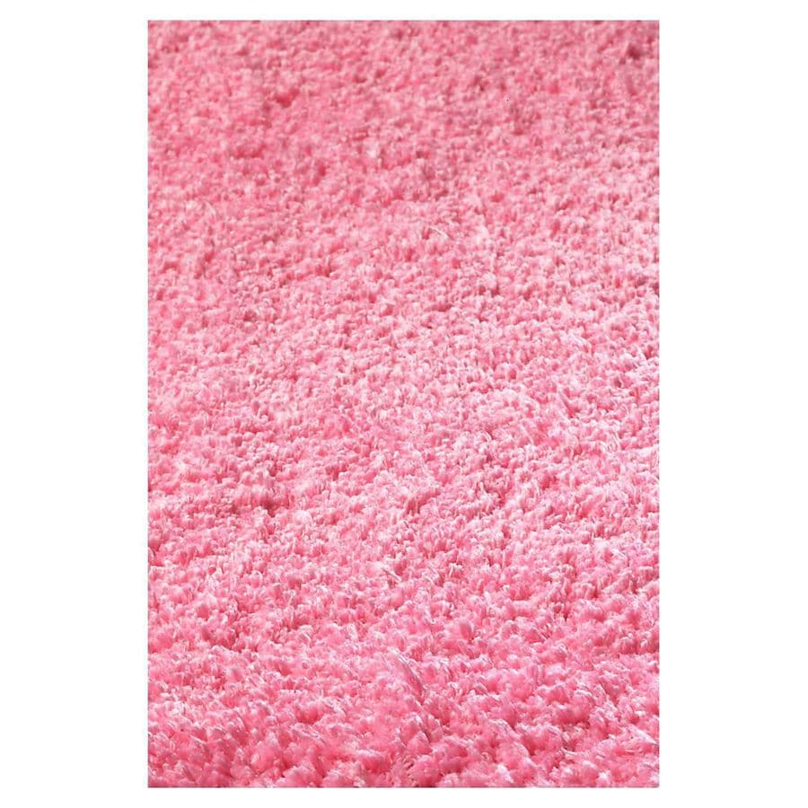 KAS Rugs Sofia Shag Pink Rectangular Indoor Shag Throw Rug (Common: 2 x 4; Actual: 27-in W x 45-in L x 0-ft Dia)