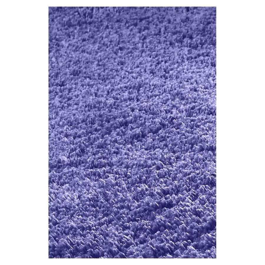 KAS Rugs Sofia Shag Purple Rectangular Indoor Shag Runner (Common: 2 x 8; Actual: 27-ft W x 90-ft L)
