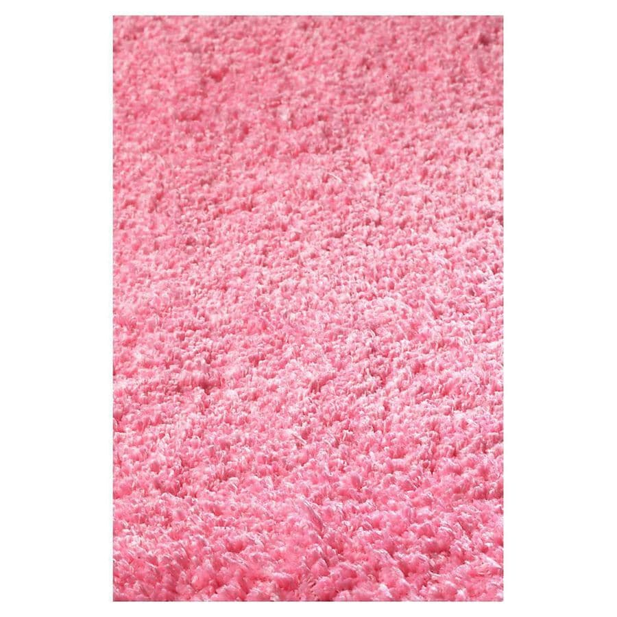 KAS Rugs Sofia Shag Pink Rectangular Indoor Machine-Made Runner (Common: 2 x 8; Actual: 2.25-ft W x 7.50-ft L)